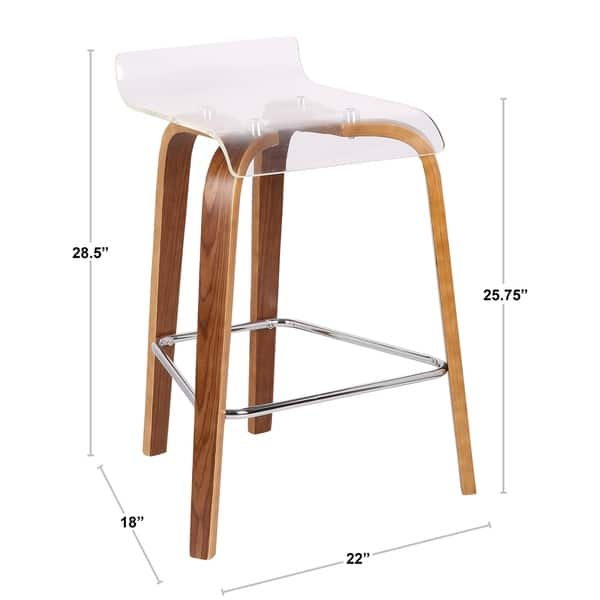 Fabulous Shop Lumisource Clarity Contemporary Counter Stool On Sale Evergreenethics Interior Chair Design Evergreenethicsorg