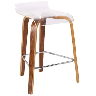 LumiSource Clarity Contemporary Counter Stool