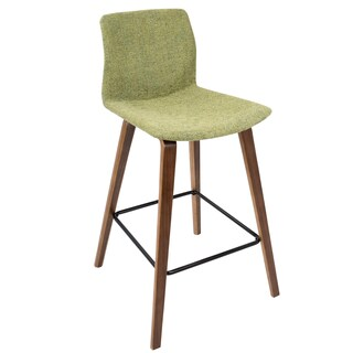 Cabo Mid-century Modern Counter Stool in Wood and Fabric (Set of 2)