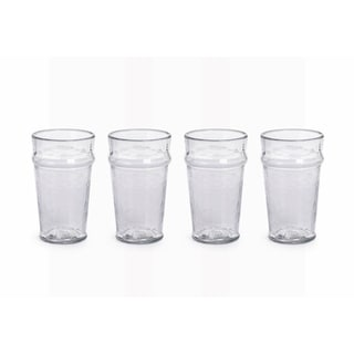"""Garan"" Hammered Glass Highball Glass (Set of 4)"