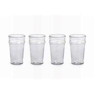 """""""Garan"""" Hammered Glass Highball Glass (Set of 4)"""
