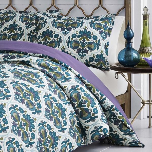 Azalea Skye Luna Duvet Cover Set Full//Queen Medium Blue