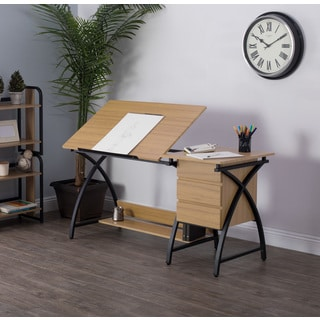 Studio Designs Deluxe Comet Charcoal & Ashwood Drafting Table