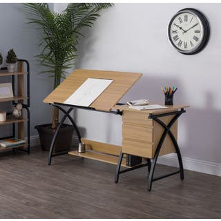 Studio Designs Deluxe Comet Charcoal Ashwood Drafting Table