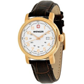 Wenger Women's 01.1021.108 'Urban Classic' Brown Leather Watch - silver