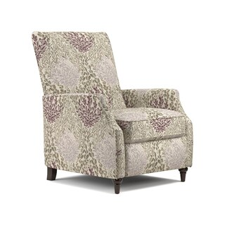ProLounger Purple Multi Floral Push Back Recliner Chair