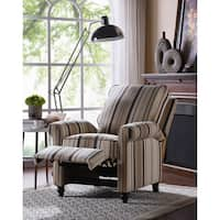 Havenside Home Howard Brown/ Black Stripe Push Back Recliner Chair