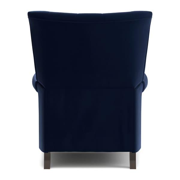 ProLounger Navy Blue Velvet Push Back Recliner Chair - Free Shipping Today - Overstock.com - 23063748  sc 1 st  Overstock.com & ProLounger Navy Blue Velvet Push Back Recliner Chair - Free ... islam-shia.org