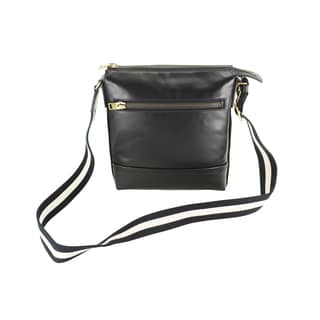 Bally Trezzini Black Calf Leather Crossbody Handbag