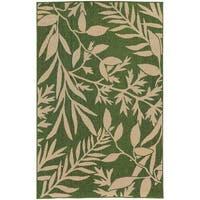 "Style Haven Botanical Impressions Green/Beige Indoor/Outdoor Area Rug (5'3 x 7'6) - 5'3"" x 7'6"""