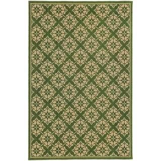 Style Haven Floral Trellis Green Indoor/Outdoor Area Rug (5'3 x 7'6)