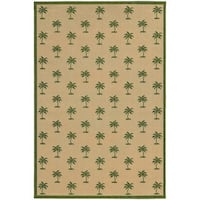 Style Haven Floating Palms Beige/Green Polypropylene Indoor/Outdoor Area Rug - 5'3 x 7'6