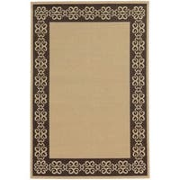 "Style Haven Scroll-work Border Indoor/Outdoor Area Rug (5'3 x 7'6) - 5'3"" x 7'6"""