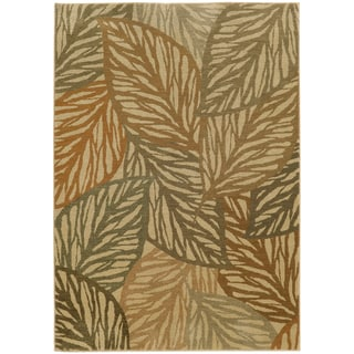 Style Haven Tropical Leaves Indoor/Outdoor Area Rug (5'3 x 7'6)