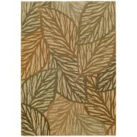 Style Haven Tropical Leaves Indoor/Outdoor Area Rug - 5'3 x 7'6