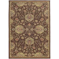 "Style Haven Floral Traditions Beige/Brown Indoor/Outdoor Area Rug (6'7 x 9'6) - 6'7"" x 9'6"""