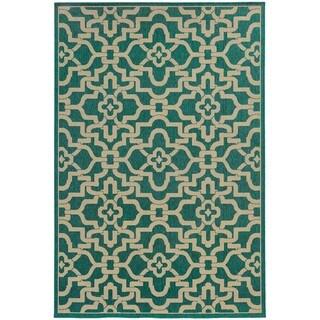 Style Haven Intricate Lattice Indoor/Outdoor Area Rug - 6'7 x 9'6