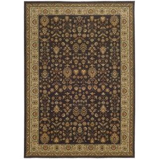 Style Haven Traditional Borders Grey/Gold Indoor/Outdoor Area Rug (6'7 x 9'6)