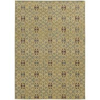 Style Haven Portico Traditions Beige Indoor/Outdoor Area Rug - 3'10 x 5'5