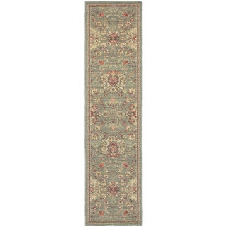 Style Haven Floral Traditions Blue/Beige Polypropylene Indoor/Outdoor Area Rug (1'10 x 7'6)