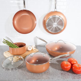 Classic Cuisine 8 Pc Cookware Set with 2 Layer Nonstick Ceramic Coating