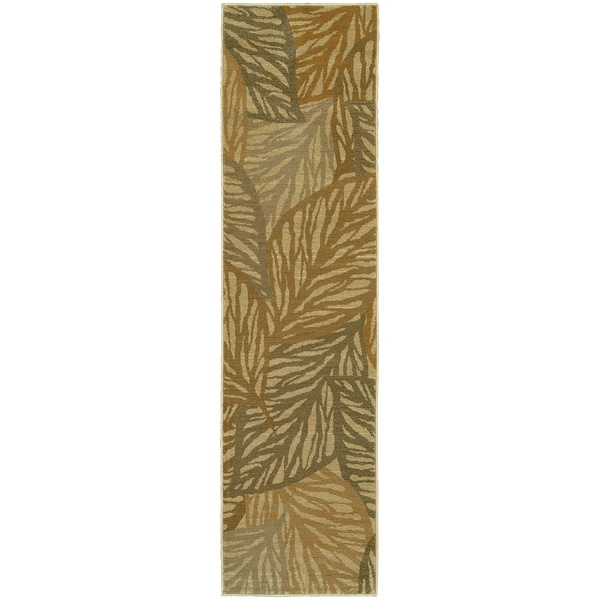 Style Haven Tropical Leaves Indoor/Outdoor Area Rug
