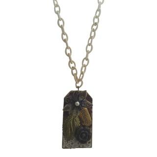 Handmade Collage Pendant Necklace (USA)