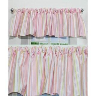 Nurture Pink Stripe Valances, 2 Window Saver Pack