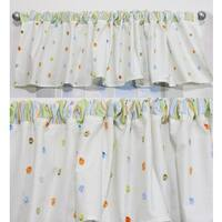 Nurture Neutral Cut Dot Valances, 2 Window Saver Pack