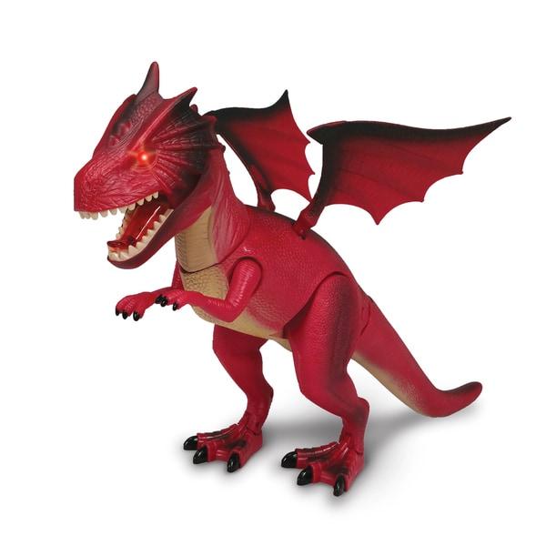NKOK WowWorld Fire Dragon Dinosaur Figure (Lights Up)