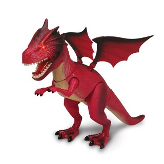 NKOK WowWorld Fire Dragon Dinosaur Figure (Lights Up)