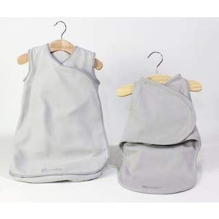 Candide Grey Baby Luxury Swaddling Blanket and Infant Sleeper Bag Bundle|https://ak1.ostkcdn.com/images/products/16753746/P23064004.jpg?impolicy=medium
