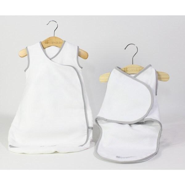 Candide Baby Luxury White Swaddling Blanket and Infant Sleeper Bag Bundle 69c2f2eea