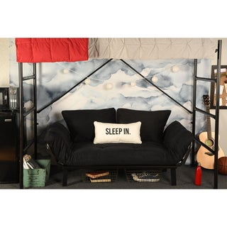 Porch & Den Ligon Dorm Dreamer Futon with Black Metal Finish