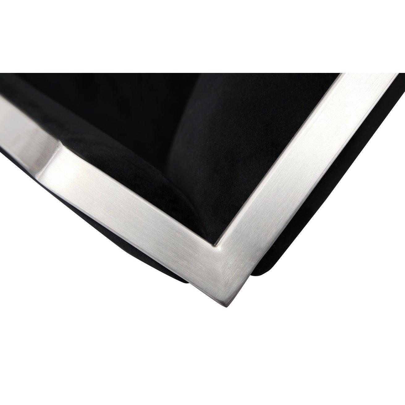 Atara Black Velvet Silver Chair Ebay