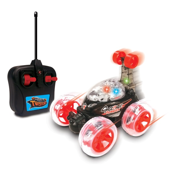 NKOK Stunt TwisterZ RC Cyclone Tumbler Remote Control Toy - Colors Vary
