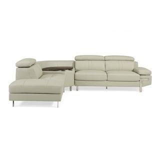 Continental Sectional Leather CU- Light Grey LeftFacing