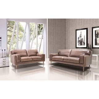 Poshini full leather sofa set