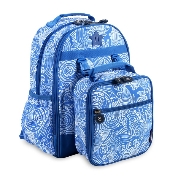 d37867e38b3c Shop J World New York Duet Wave Kids Backpack and Lunch Bag Set - Free  Shipping On Orders Over  45 - Overstock - 16753848