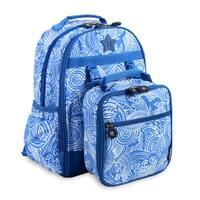 J World New York Duet Wave Kids Backpack and Lunch Bag Set