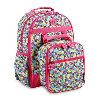 J World New York Duet Floret Kids Backpack and Lunch Bag Set