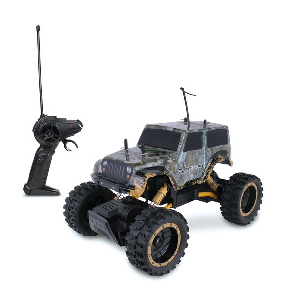 NKOK RealTree RC Jeep Wrangler Rock Crawler Remote Control Toy