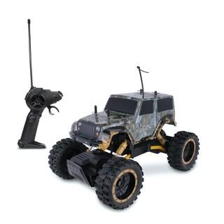 NKOK RealTree RC Jeep Wrangler Rock Crawler Remote Control Toy