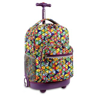 J World New York Sunrise Prizm Rolling Backpack