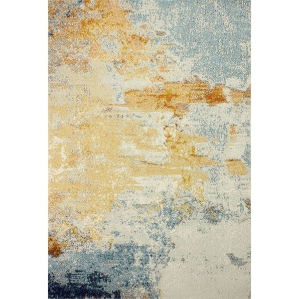 Alba Multicolored Abstract Area Rug (7'6x9'6)