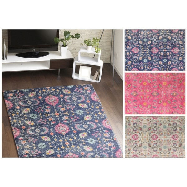 A by gone ERA Multicolored Polypropylene Brent Area Rug (8'7 x 11'6)