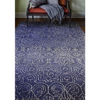 Devon Navy Blue Cotton Area Rug (7'6 x 9'6)