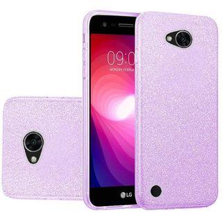 Insten Purple Hard Snap-on Glitter Case Cover For LG X Power 2