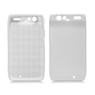 Insten White TPU Rubber Candy Skin Case Cover For Motorola Droid Razr XT912