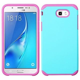 Insten Teal/Hot Pink Hard Snap-on Dual Layer Hybrid Case Cover For Samsung Galaxy J7 (2017)/J7 Perx/J7 Sky Pro/J7 V